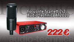 Scarlett 2i2 + AT2020 bundle
