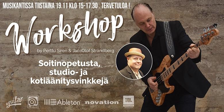 Workshop tiistaina 19.11 klo 15-17.30